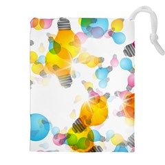 Lamp Color Rainbow Light Drawstring Pouches (xxl) by Mariart