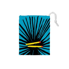 Match Cover Matches Drawstring Pouches (small)  by Mariart