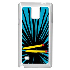 Match Cover Matches Samsung Galaxy Note 4 Case (white) by Mariart