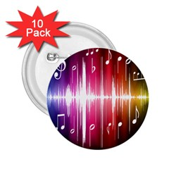 Music Data Science Line 2 25  Buttons (10 Pack)