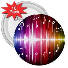 Music Data Science Line 3  Buttons (10 Pack)  by Mariart