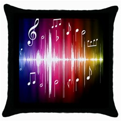 Music Data Science Line Throw Pillow Case (black) by Mariart