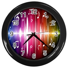 Music Data Science Line Wall Clocks (black) by Mariart