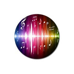 Music Data Science Line Magnet 3  (round) by Mariart