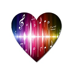 Music Data Science Line Heart Magnet by Mariart