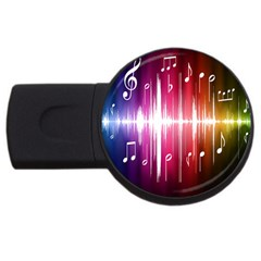 Music Data Science Line Usb Flash Drive Round (4 Gb) by Mariart