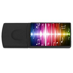 Music Data Science Line Usb Flash Drive Rectangular (4 Gb) by Mariart