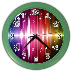 Music Data Science Line Color Wall Clocks by Mariart