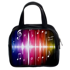 Music Data Science Line Classic Handbags (2 Sides)