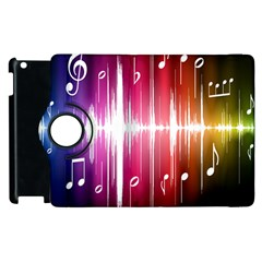 Music Data Science Line Apple Ipad 2 Flip 360 Case by Mariart