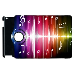 Music Data Science Line Apple Ipad 3/4 Flip 360 Case by Mariart