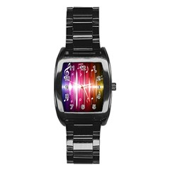 Music Data Science Line Stainless Steel Barrel Watch by Mariart
