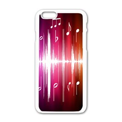 Music Data Science Line Apple Iphone 6/6s White Enamel Case by Mariart