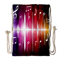 Music Data Science Line Drawstring Bag (large) by Mariart
