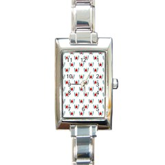 Sage Apple Wrap Smile Face Fruit Rectangle Italian Charm Watch by Mariart