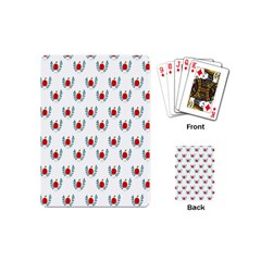 Sage Apple Wrap Smile Face Fruit Playing Cards (mini)  by Mariart