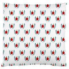 Sage Apple Wrap Smile Face Fruit Large Cushion Case (one Side) by Mariart