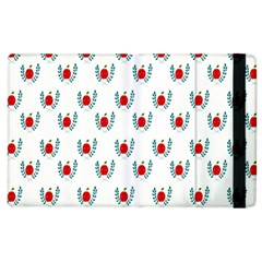 Sage Apple Wrap Smile Face Fruit Apple Ipad 2 Flip Case by Mariart