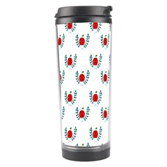 Sage Apple Wrap Smile Face Fruit Travel Tumbler by Mariart