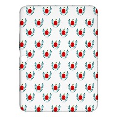Sage Apple Wrap Smile Face Fruit Samsung Galaxy Tab 3 (10 1 ) P5200 Hardshell Case  by Mariart