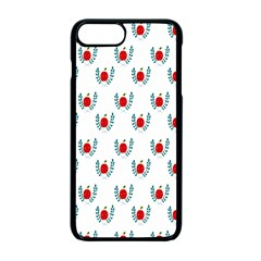 Sage Apple Wrap Smile Face Fruit Apple Iphone 7 Plus Seamless Case (black) by Mariart