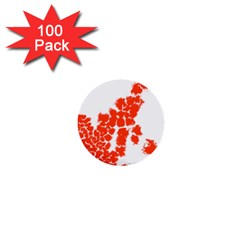 Red Spot Paint 1  Mini Buttons (100 Pack)  by Mariart