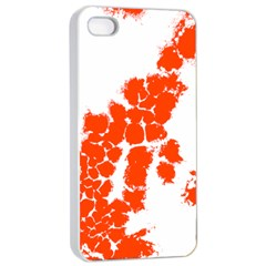 Red Spot Paint Apple Iphone 4/4s Seamless Case (white) by Mariart