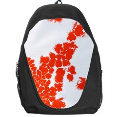 Red Spot Paint Backpack Bag by Mariart