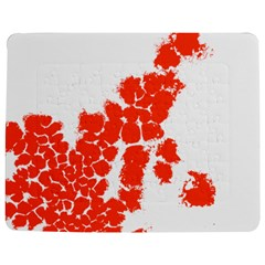 Red Spot Paint Jigsaw Puzzle Photo Stand (rectangular) by Mariart