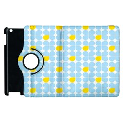 Retro Stig Lindberg Vintage Posters Yellow Blue Apple Ipad 3/4 Flip 360 Case by Mariart