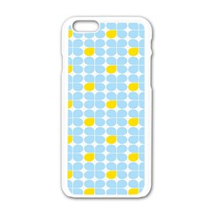 Retro Stig Lindberg Vintage Posters Yellow Blue Apple Iphone 6/6s White Enamel Case by Mariart