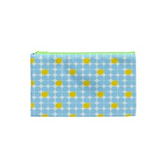 Retro Stig Lindberg Vintage Posters Yellow Blue Cosmetic Bag (xs) by Mariart