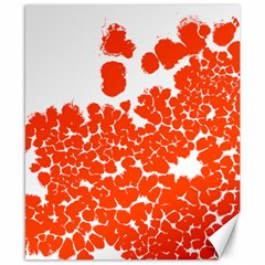 Red Spot Paint White Polka Canvas 8  X 10  by Mariart
