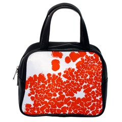 Red Spot Paint White Polka Classic Handbags (one Side) by Mariart
