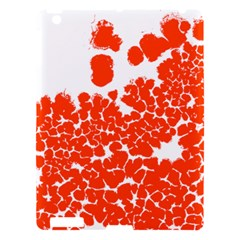 Red Spot Paint White Polka Apple Ipad 3/4 Hardshell Case by Mariart