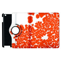 Red Spot Paint White Polka Apple Ipad 3/4 Flip 360 Case by Mariart