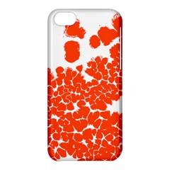 Red Spot Paint White Polka Apple Iphone 5c Hardshell Case by Mariart