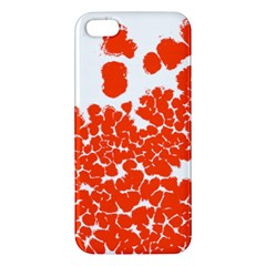 Red Spot Paint White Polka Iphone 5s/ Se Premium Hardshell Case by Mariart