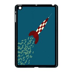 Rocket Ship Space Blue Sky Red White Fly Apple Ipad Mini Case (black) by Mariart