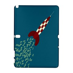 Rocket Ship Space Blue Sky Red White Fly Galaxy Note 1 by Mariart