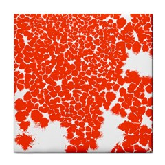 Red Spot Paint White Tile Coasters by Mariart