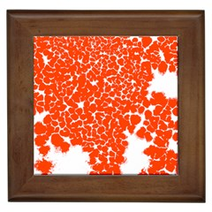 Red Spot Paint White Framed Tiles by Mariart