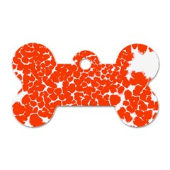 Red Spot Paint White Dog Tag Bone (one Side) by Mariart