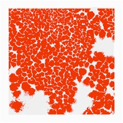 Red Spot Paint White Medium Glasses Cloth by Mariart