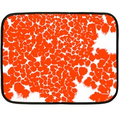 Red Spot Paint White Fleece Blanket (mini) by Mariart