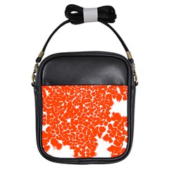 Red Spot Paint White Girls Sling Bags by Mariart