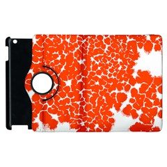 Red Spot Paint White Apple Ipad 3/4 Flip 360 Case by Mariart