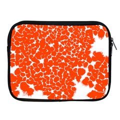 Red Spot Paint White Apple Ipad 2/3/4 Zipper Cases by Mariart