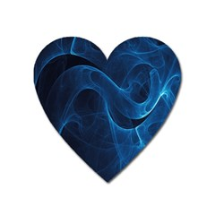 Smoke White Blue Heart Magnet by Mariart