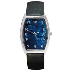 Smoke White Blue Barrel Style Metal Watch by Mariart
